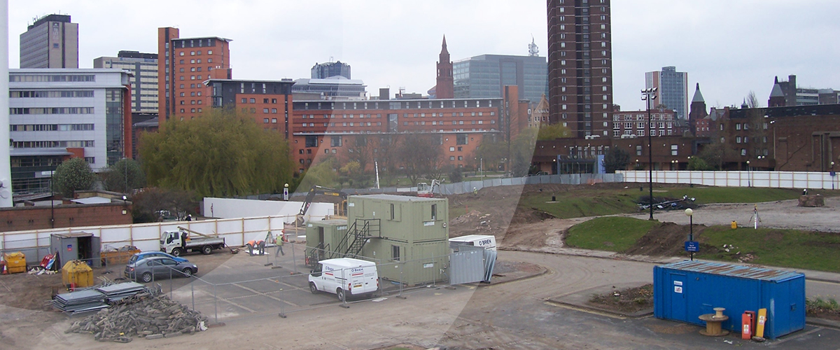Groundworks, land remediation and infrastructure services as principal contractor for Aston University in Birmingham, West Midlands.