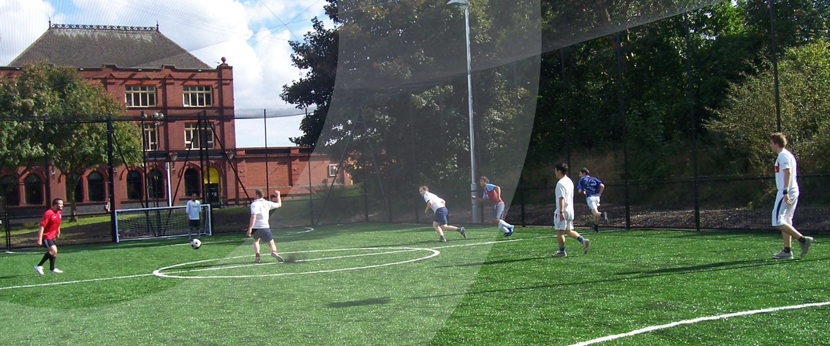 O'Brien Sports installs a 3G 5 a-side football pitch for Aston University in Birmingham, West Midlands