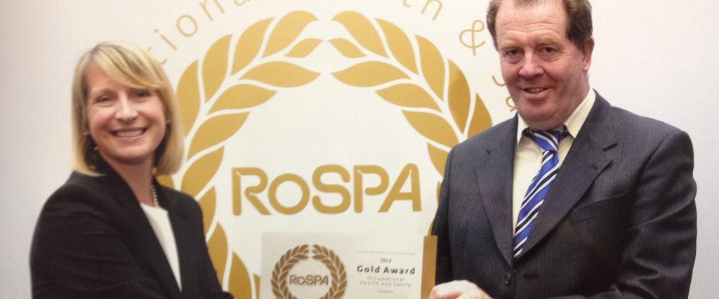 O'Brien Contractors strikes Gold with RoSPA award