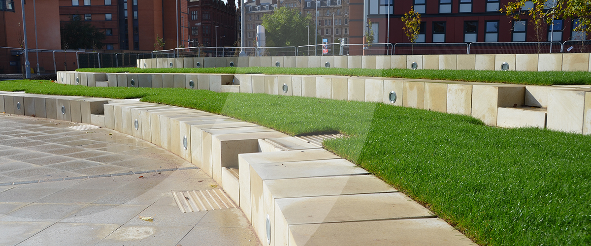 West Midlands based groundworks and civil engineering company providing hard landscaping services for aston university in Birmingham.