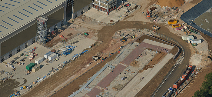Midlands based civil engineering contractor providing groundworks services at Primark's Thunderbird 2 Retail Distribution Centre in Northamptonshire, East Midlands