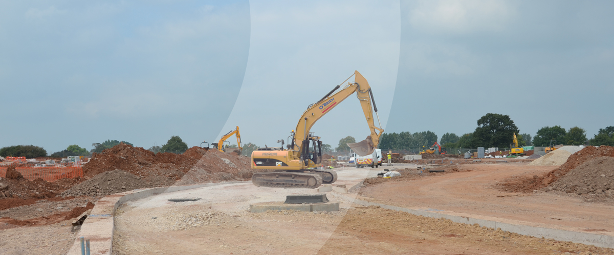 Midlands based Civil engineering contractor providing earthworks, groundworks and infrastructure services at Beacon Barrack SFA in Staffordshire, West Midlands