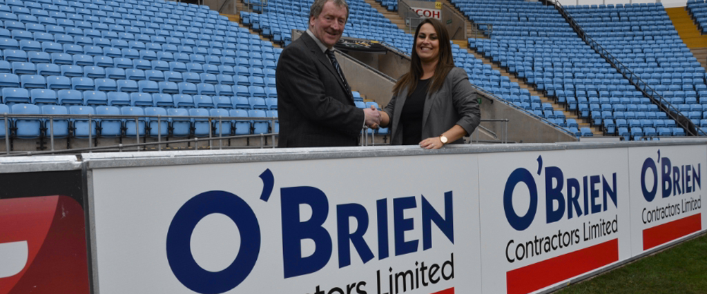 O'Brien Contractors sign up with Coventry City Football Club