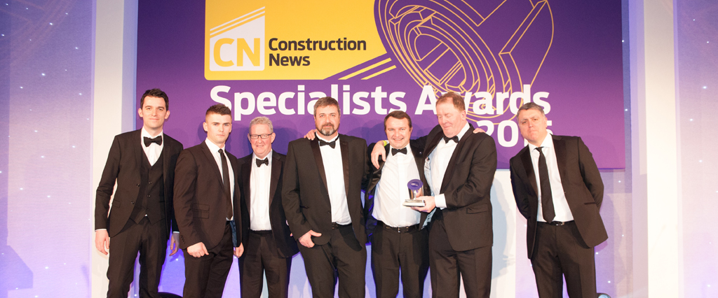O'Brien Contractors crowned Specialist Contractor of the Year 2015