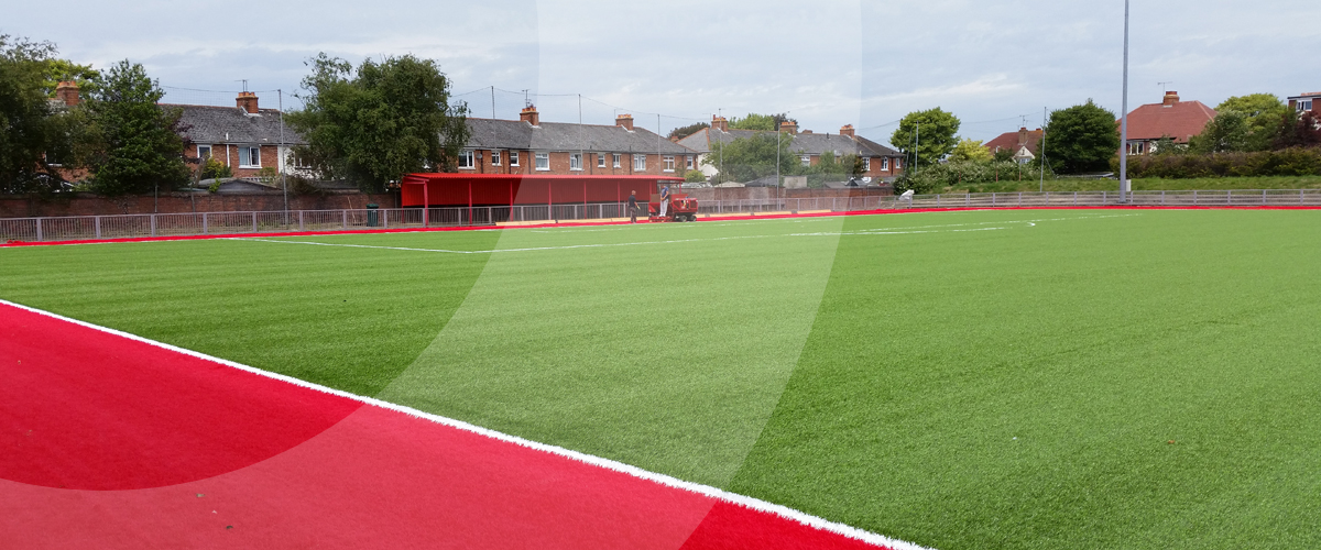 Installation of a 3G FIFA compliant synthetic surface football pitch for Worthing Football Club by sports pitch construction specialist, O'Brien Sports