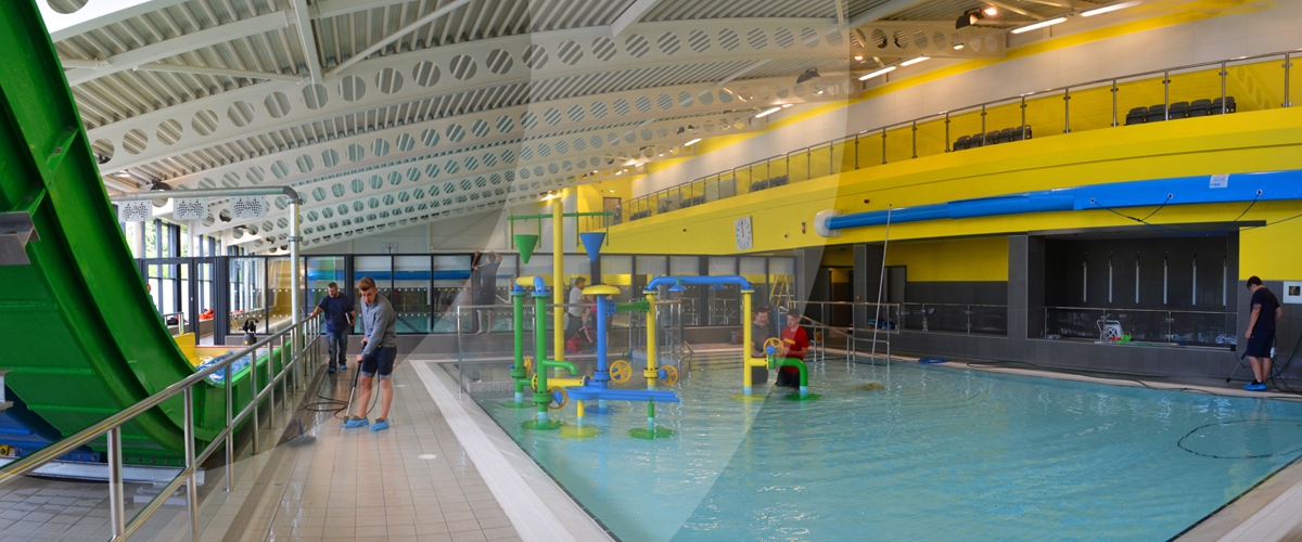 New swimming pool and infrastructure works at at7 leisure - University of birmingham swimming pool ...