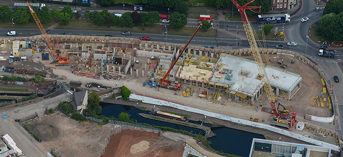Midlands based civil engineering specialist, providing land remediation, groundworks, enabling works and earthworks services at City Locks in Birmingham, West Midlands
