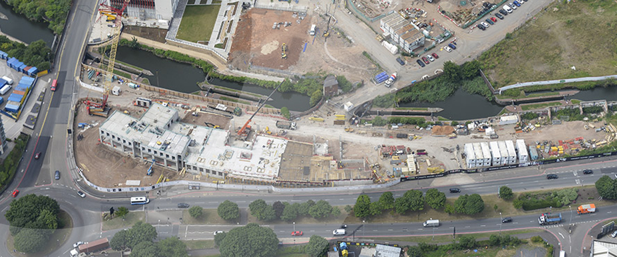 Midlands based civil engineering specialist, providing land remediation, groundworks and earthworks services at City Locks in Birmingham, West Midlands