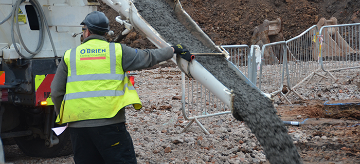 Civil Engineering contractors, providing groundworks and earthworks services at Perry Beeches V School in Birmingham.