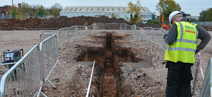 Land Remediation contractors, based in the West Midlands, providing groundworks and earthworks services at Perry Beeches V School in Birmingham