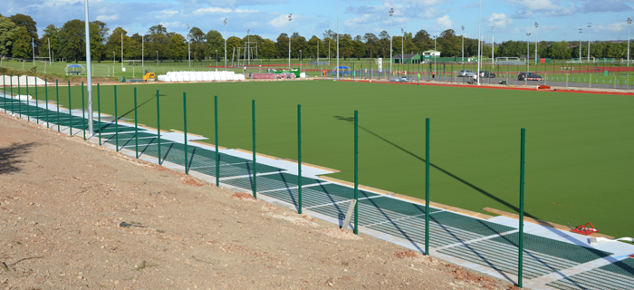 Civil engineering and groundworks contractor provides earthworks and sports pitch installation services at Burton Hockey Club in the West Midlands