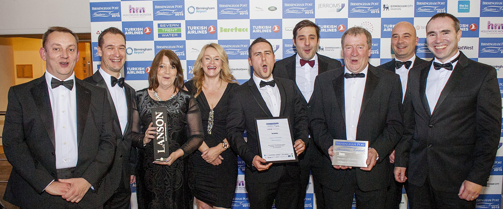 O'Brien Contractors win Property and Regeneration prize at the 2015 Birmingham Post Business Awards
