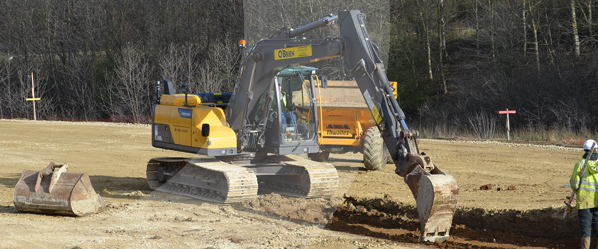 West Midlands based civil engineering contractor provides groundworks services at Project Gazelle in Bedfordshire.