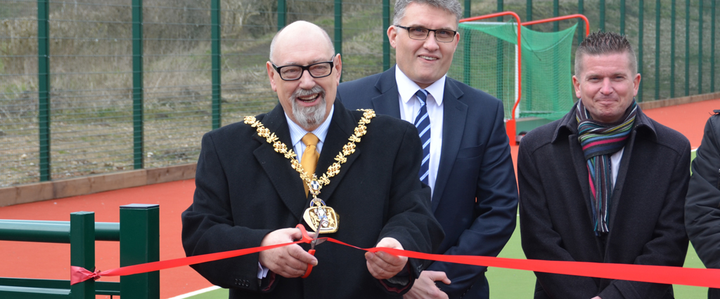 New Ellis Astro hockey pitch opened by the Mayor of East Staffordshire