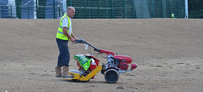 Installation of a 3G synthetic surface for Warden Park Academy by sports pitch construction specialist, O'Brien Sports