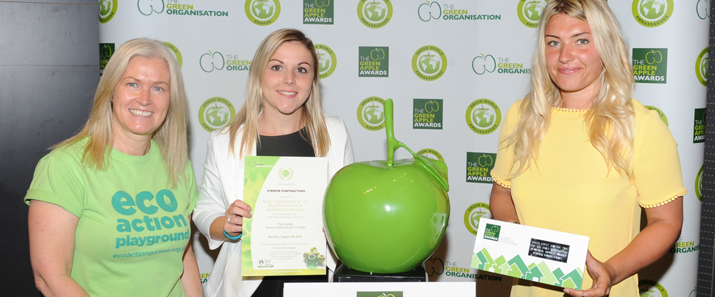 Our commitment to the environment has seen us awarded a Green Apple award for sustainable development
