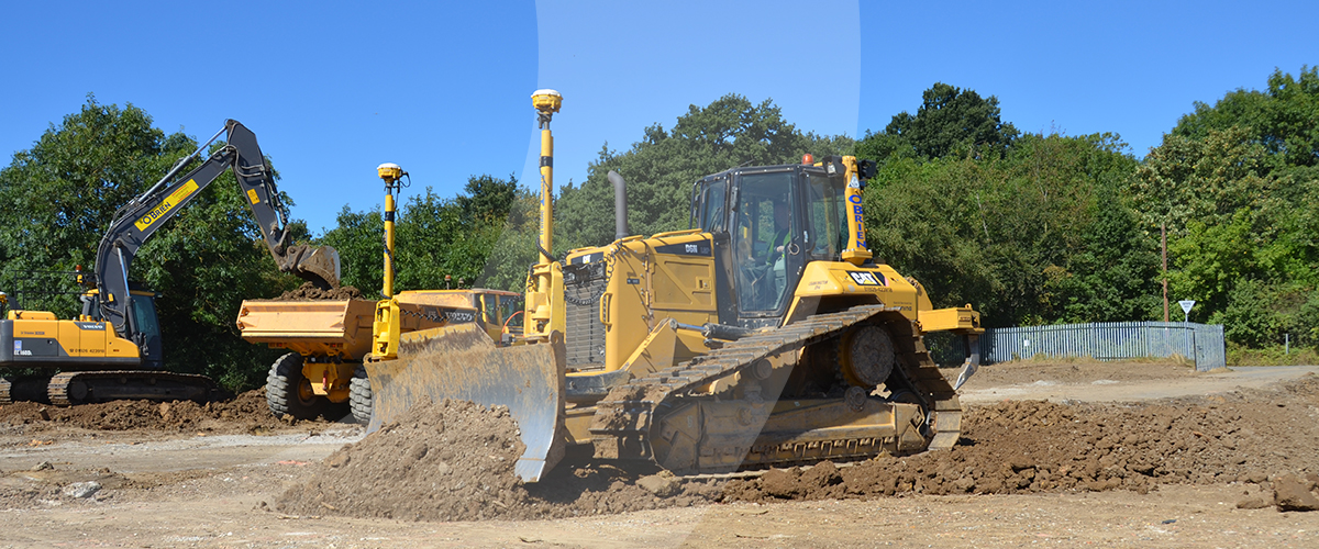 Civil engineering and groundworks specialist providing earthworks and laser levelling services at Broxhill Sports Centre.