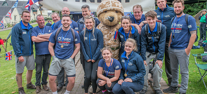 Staff from West Midlands based groundworks and civil engineering specialist, O'Brien Contractors, has raised £6,500 for Help for Heroes.
