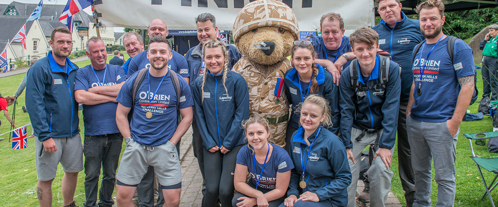 Team O'Brien hikes across the Malvern Hills to raise money for Help for Heroes