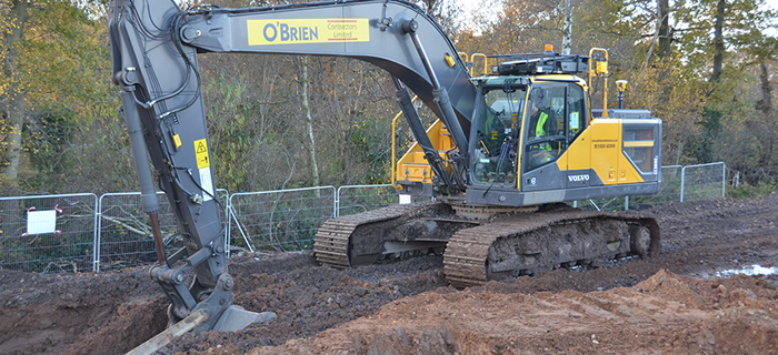 Civil engineering specialist, providing groundworks services at Gestamp's Four Ashes Park scheme in the West Midlands.