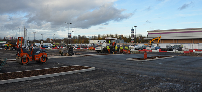 Civil engineering specialist, providing groundworks services at RG Group's Gallagher Retail Park scheme in the West Midlands.