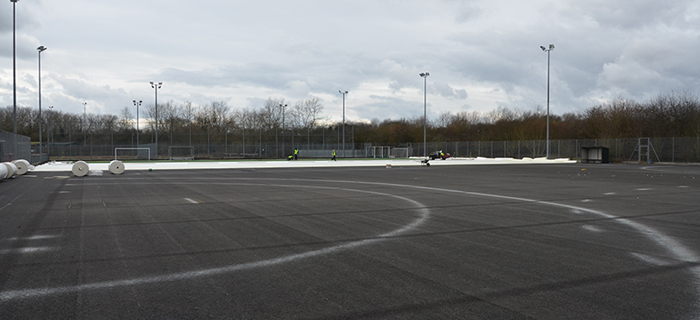 Civil engineering and groundworks contractor provides earthworks and sports pitch installation services at Bridge Street Sports Centre in the South West