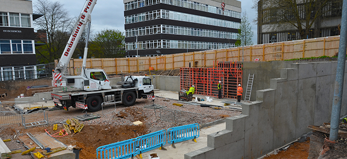Leading Midlands based specialist, providing earthworks, groundworks and reinforced concrete works for the University of Birmingham