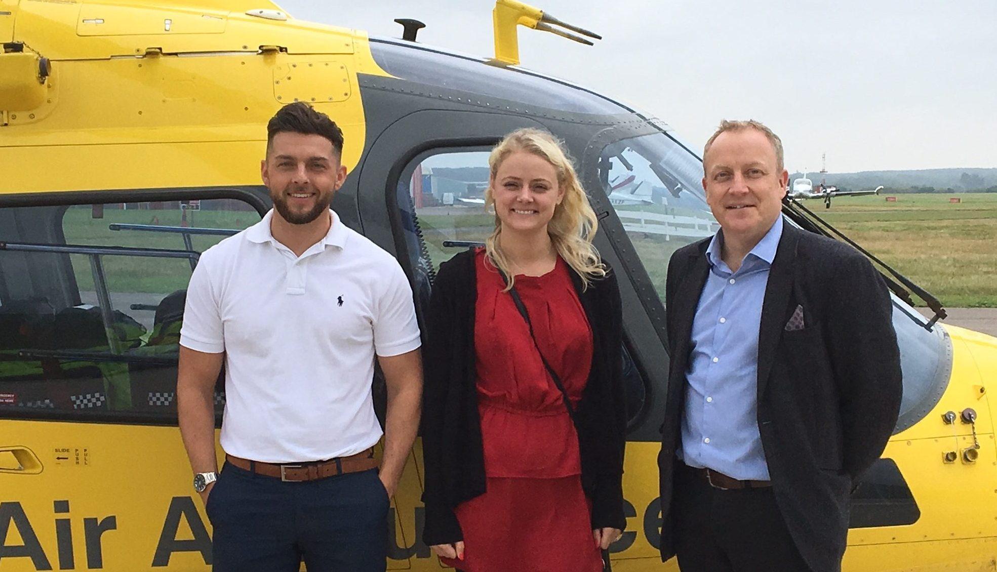 O'Brien Charitable Trust visit Air Ambulance Base