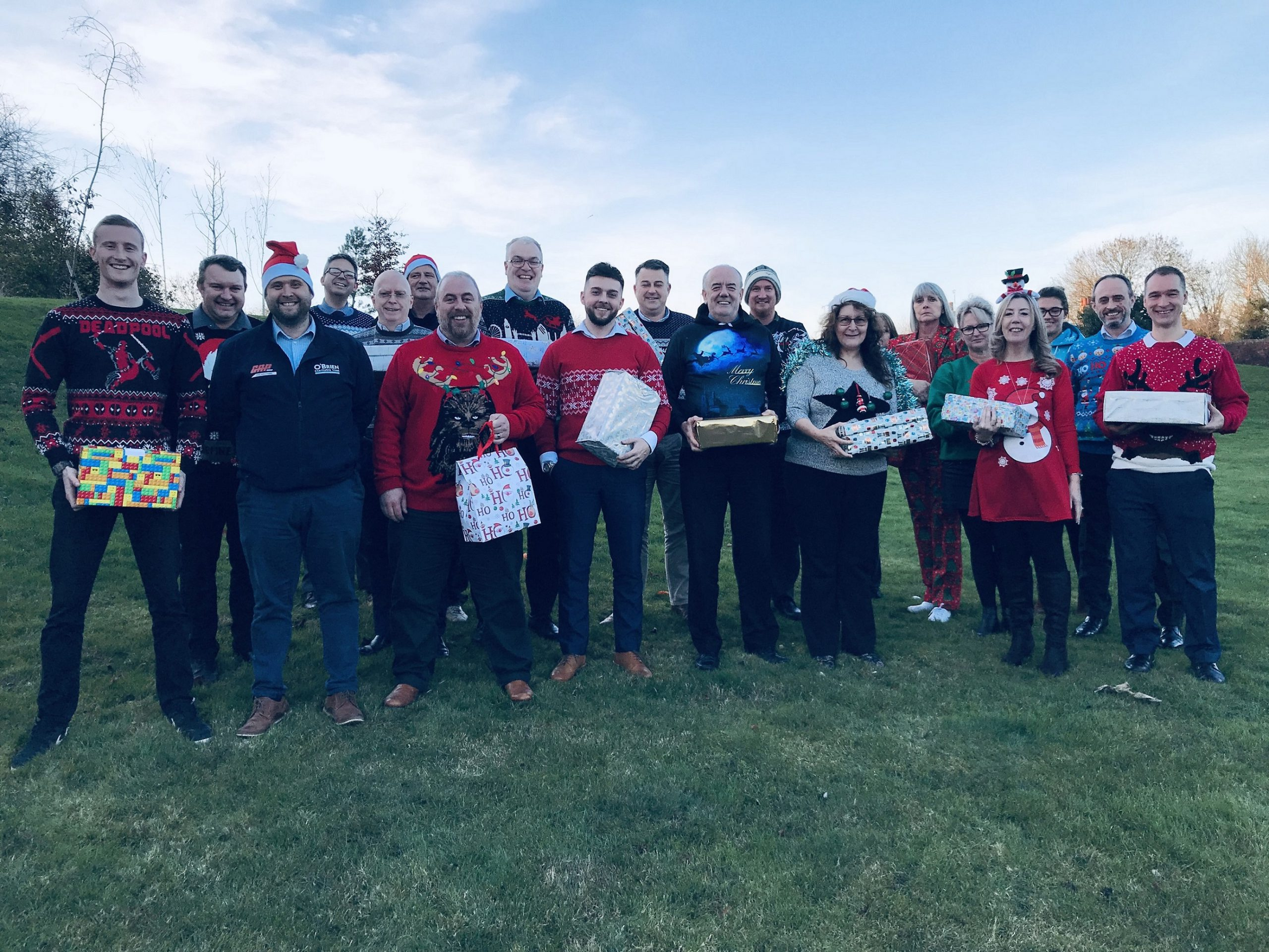 SMASHED IT! STAFF AT O'BRIEN CONTRACTORS RAISE ANOTHER £30,000 FOR CHARITY IN 2018!