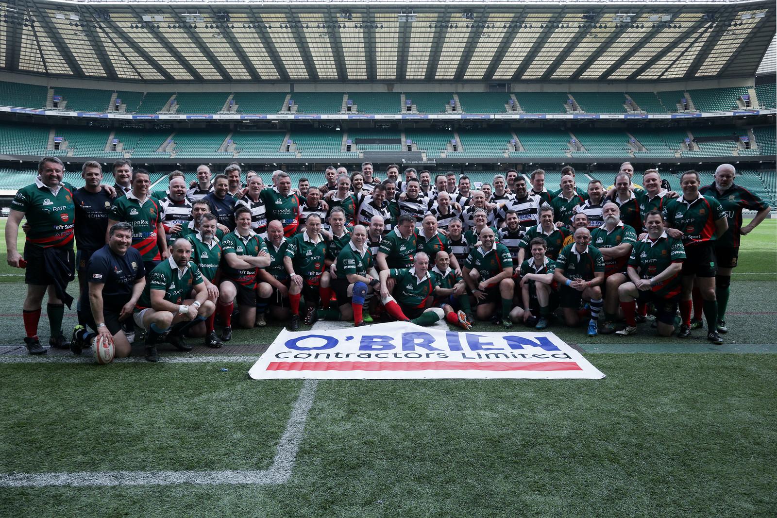 Veseyans Rugby Club Thank O'Brien for Charity Match Sponsorship at Twickenham