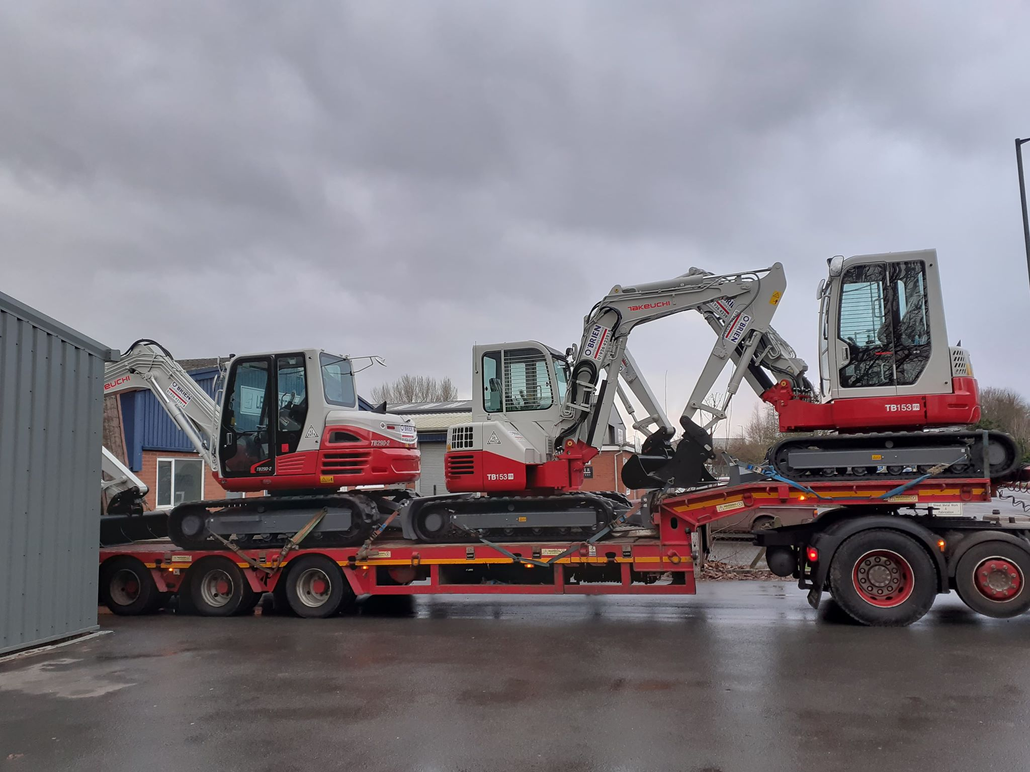 New Takeuchi's Arrive at O'Brien Contractors!