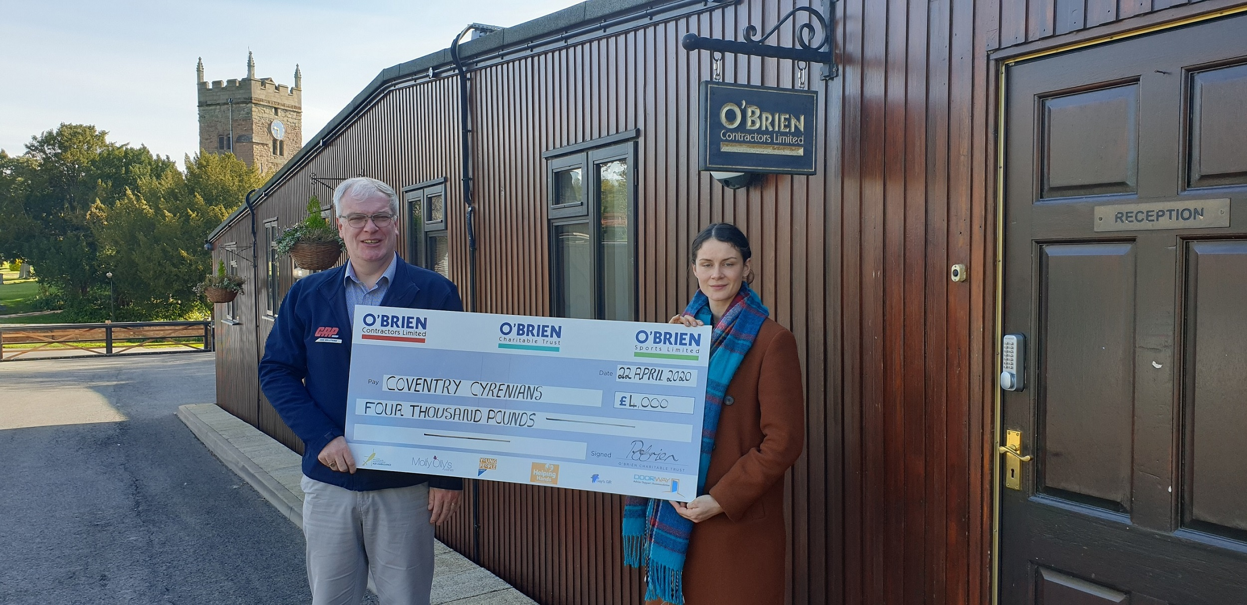 O'Brien Charitable Trust Donate £4,000 to Coventry Cyrenians Society