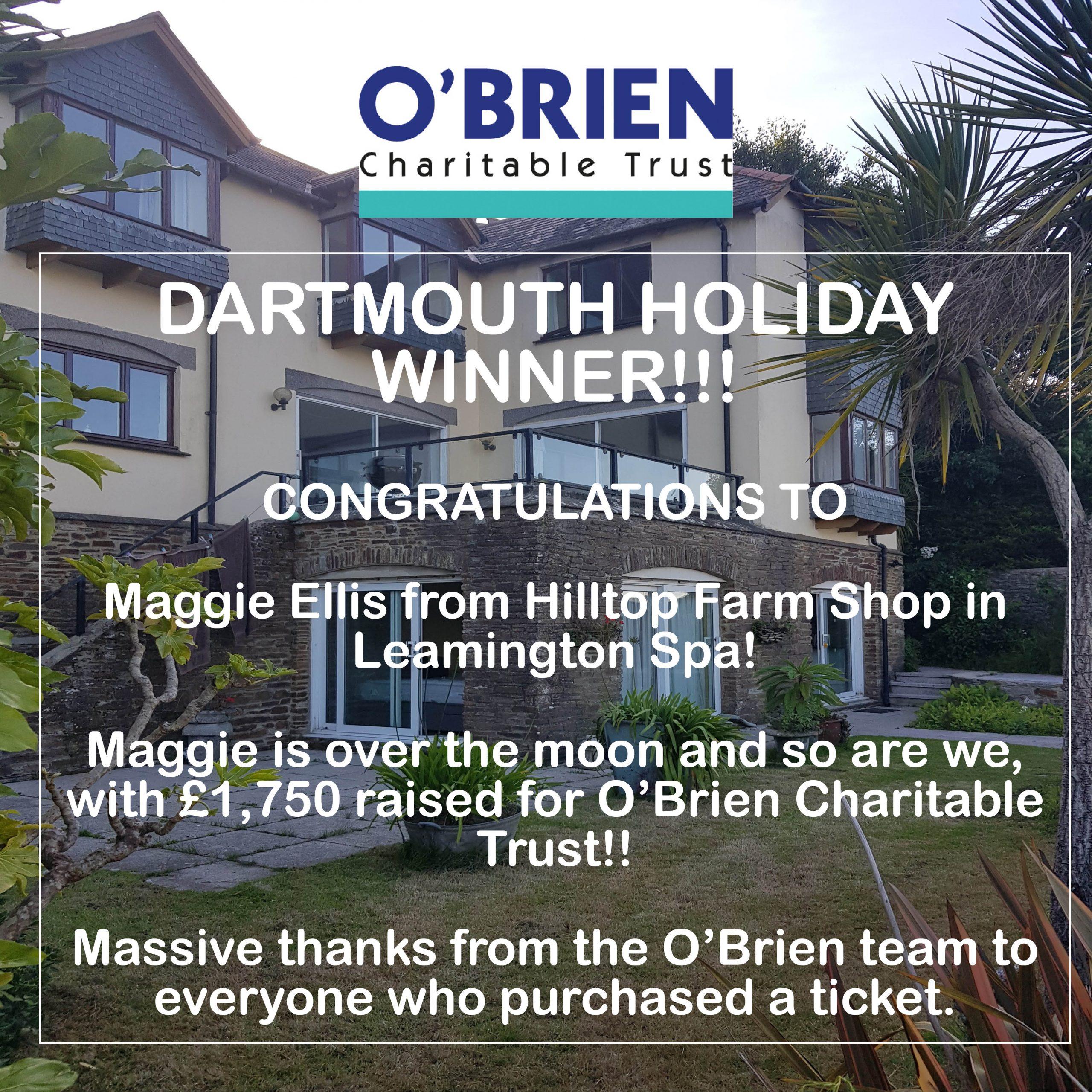 O'Brien Charitable Trust Dartmouth Holiday Raffle Result!